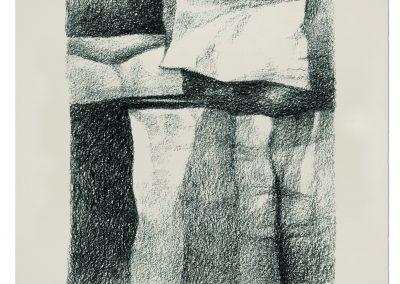 001-carboncillo y grafito s.papel - 25x35 cm.