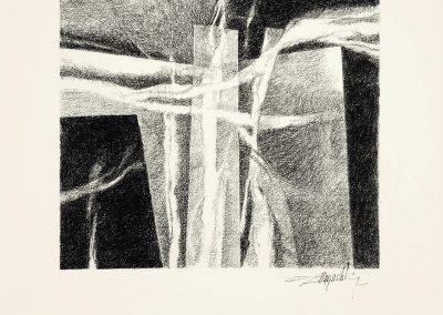 007 - carbonilla y grafito s. papel - 27x29 cm.
