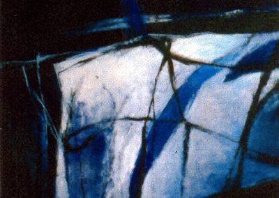 001 - Mas allá - 100x100 cm.-acr.s.tela - 1997