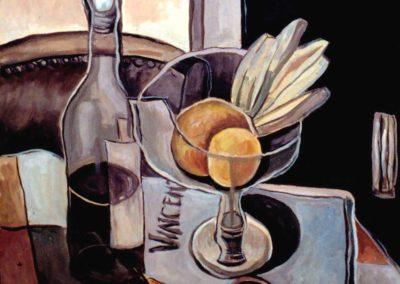 002 - Homenaje a Van Gogh - 60x70 .- oleo s.cartón