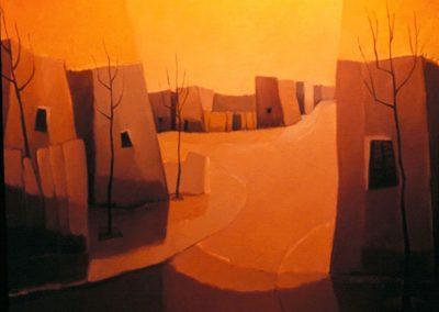 003 - Donde las invisibles presencias - 54x65.- oleo s.tela - 1978