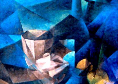 003- Naturaleza en azul - 50x60 cm.-Oleo s.cart.entelado - 1971