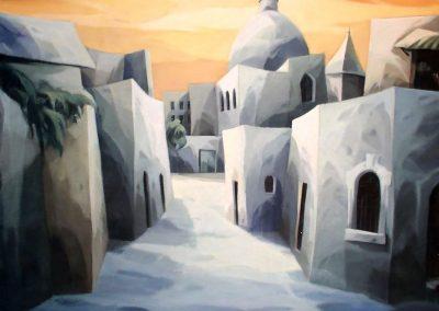 004  - Calle de Jaifa - 50x60 cm.- oleo.s.tela - 1985