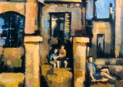 009 - La casa abandonada - 35x45 - óleo s.cartón - 1972