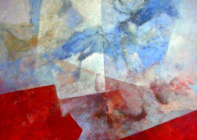 010 - Viene empujada por la luna -100x100 cm. acr.s.tela.- 2007