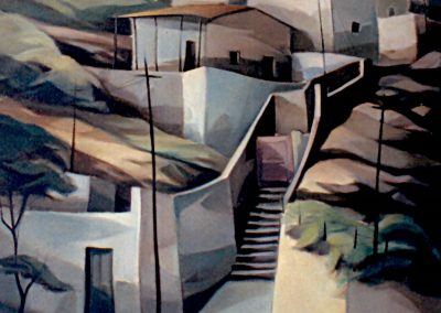 012 - Dias, tierras, espacios fabulosos - 50x72 - oleo.s.tela - 1980