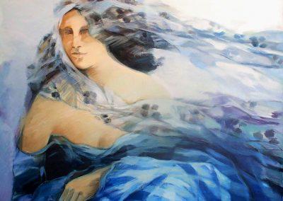 012  - La mujer azul -100x70-oleo.s.tela -l989