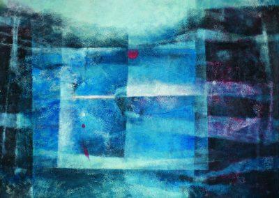 015 - Del oscuro amor - 100 x 199 cm. acr.s.tela - 2010