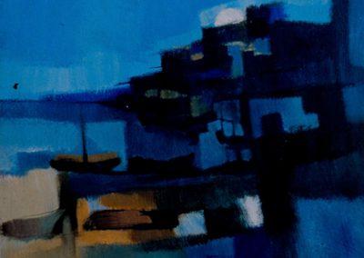 016 - Descanso en el puerto - 50x70 cm- óleo s.cart.entelado